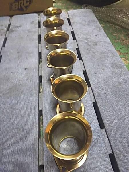 ウェーバー真鍮ファンネル。ソレックス、ハコスカ