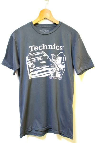 Technics (テクニクス) プリントTシャツ グレー系 MADE IN MEXICO