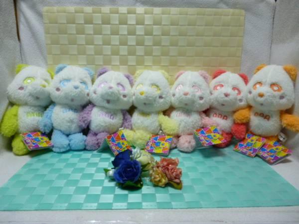 ◆新品★AAA え~パンダ★ パステルもこもこぬいぐるみ ★全7種類 セット★ 非売品 ◆