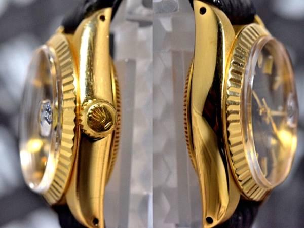 18k金無垢★ROLEXロレックスDATEJUSTデイトジャストRef.6917 Cal.2030搭載 自動巻 腕時計 レディース_画像2