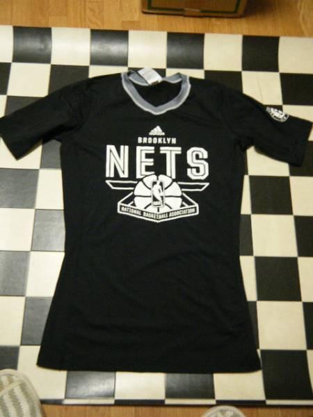 アディダス BROOKLYN NETS ロングTシャツ サイズO 黒G3795