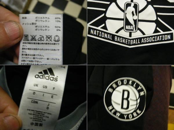 アディダス BROOKLYN NETS ロングTシャツ サイズO 黒G3795_画像3