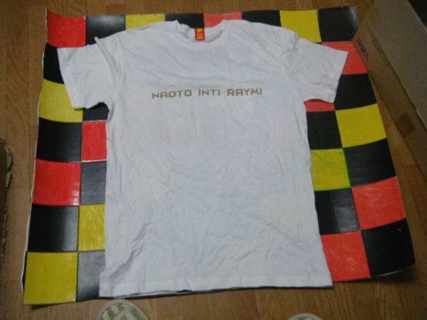ナオト インティライミ 新品Tシャツ白サイズ?両国国技館G3856 身幅約48cm
