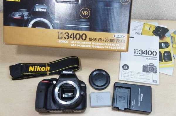 s【1円スタート 売切り】極美品 Nikon D3400 ボディ ニコン