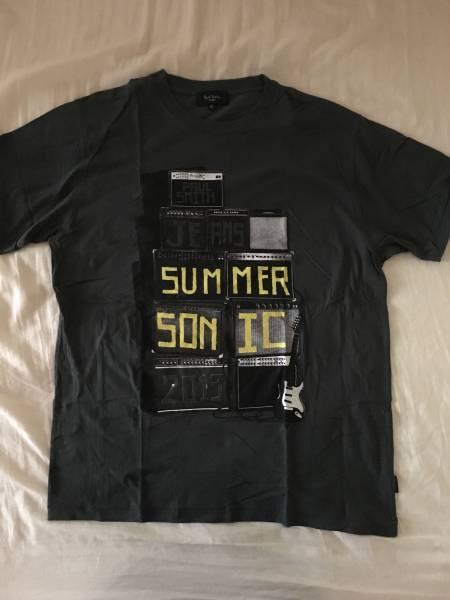 SUMMER SONIC × Paul Smith JEANS コラボTシャツ/XLサイズ/ポールスミス ジーンズ/サマーソニック2013/コラボアイテム/緑色系/サマソニ ライブグッズの画像