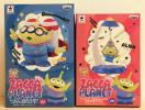 トイ・ストーリー フィギュア ZACCA PLANET ゆらゆらエイリアン(青)+エイリアンのロケットケース 2種セット