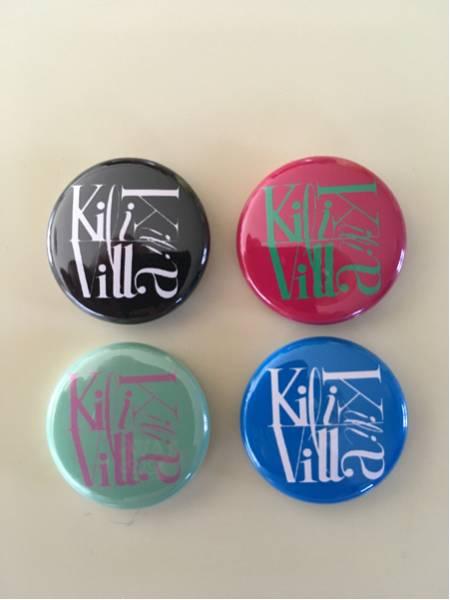 kill kill villa バッヂ 4個セット/ラーナーズ、LEARNERS、セディショナリーズ