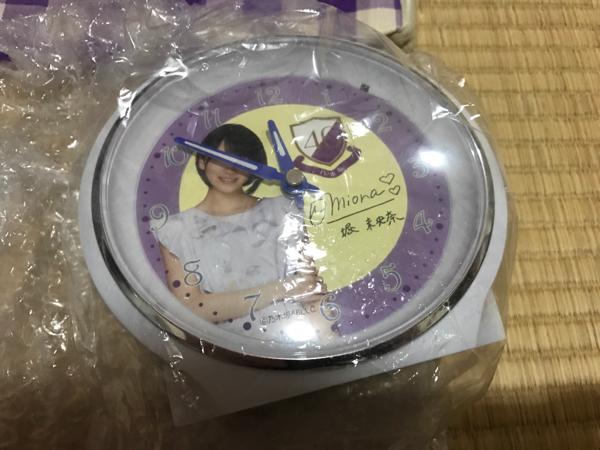 乃木坂46 堀未央奈 乃木坂46 オーダーメイド目覚まし時計 新品
