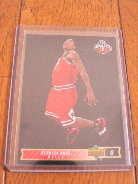 NBA Rookie Card 08-09 DERRICK ROSE/デリックローズ UPPER DECK LINEAGE RC CHICAGO BULLS NEW YORK KNICKS グッズの画像