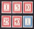 蘭領ニューギニア(不足料)1957年(未)6種完