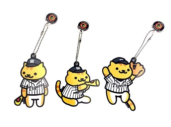 【新品】タイガース×たてじまさん ねこあつめ バックチャーム2 グッズの画像