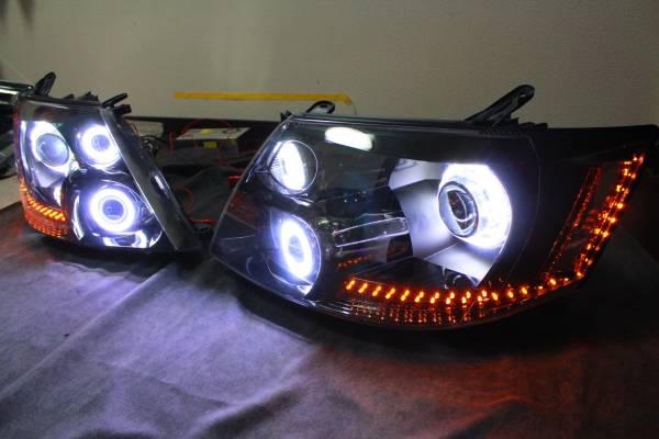 10系 アルファード前期 ヘッドライト LS460プロジェクター COBリング