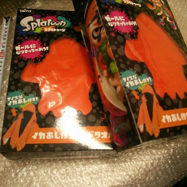 スプラトゥーン イカ あし付き フード タオル オレンジ 2セット グッズの画像