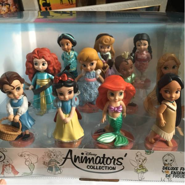 アニメーターズコレクション プリンセスセット アリエル ラプンツェル ジャスミン ディズニーグッズの画像