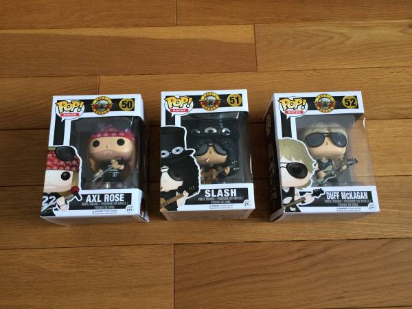 Funko POP! ガンズ・アンド・ローゼス 3種セット Guns N' Roses AXL DUFF SLASH