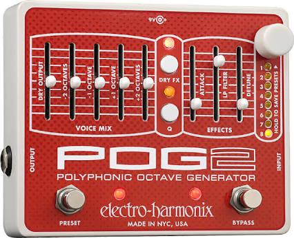 新品同様!格安スタート!electro-harmonix POG2 エレハモ 箱、説明書、アダプター等付属品有り ギターシンセ オクターバー プリセット可能
