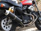 ハーレースポーツスター XL883 1200 レインボーステンレスマフラー 軽量カーボンサイレンサー仕様 ~03まで 美品