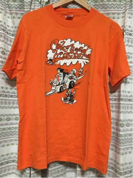 【中古】コークヘッドヒップスターズ Tシャツ/Mサイズ/オレンジ cokehead hipsters THUMB BDB