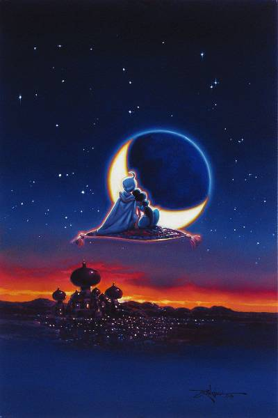 Disney Fine Art ディズニーファインアート アラジン 限定 レア Rodel Gonzalez