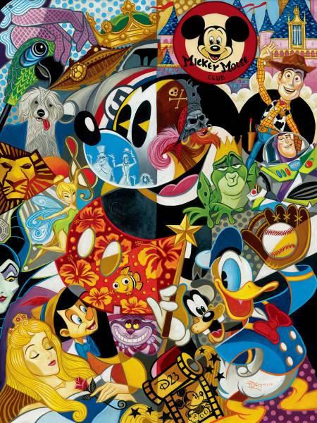 Disney Fine Art ディズニーファインアート ミッキー トイストーリー ドナルド 白雪姫 ピーターパン 限定 レア Tim Rogerson ディズニーグッズの画像