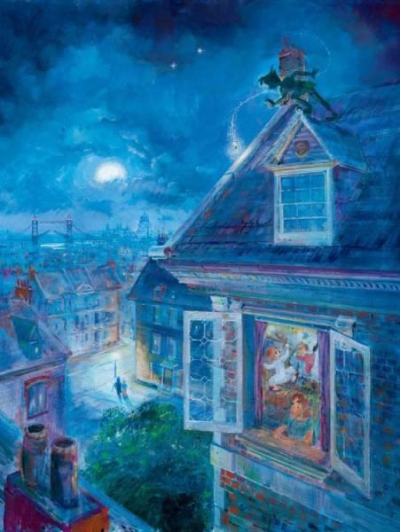 Disney Fine Art ディズニーファインアート ピーターパン 限定 レア Harrison Ellenshaw ディズニーグッズの画像
