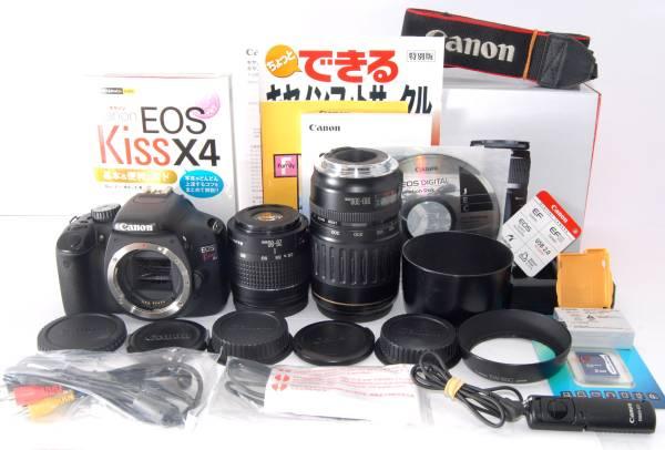 ●付属多数● Canon キャノン EOS Kiss X4 純正&超望遠Wレンズ