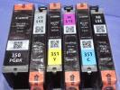 キャノン純正インク BCI-350PGBK・351BK/M/C/Y/GY■各1ヶ合計6ヶ