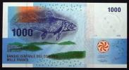 コモロ連合・2005年・1000フラン紙幣・シーラカンス