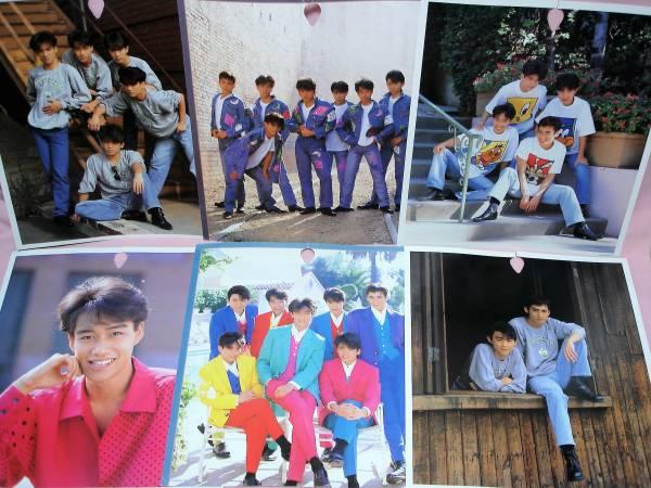 80年代当時物★光GENJIポスター6枚★厚紙両面/ポニーキャニオン