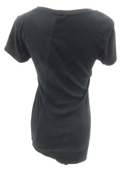 Barak カットソー 丸首 半袖 黒 ブラック size 99_画像2
