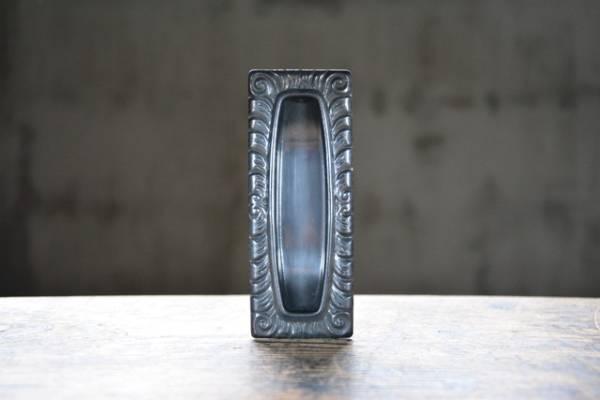 NO.3219 古い真鍮のブロンズ装飾角形引手 122mm 検索用語→A50gアンティークビンテージ古道具真鍮金物扉ドア引戸引き戸取手_画像2