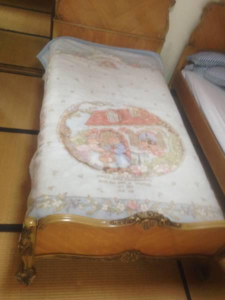 イチゴの丘LAMORNE ADVANCEふんわりもうふTHESTRAWBERRYHILL毛布ブランケット水色みずいろブルー寝具防寒具サイズ143x201cm_画像3