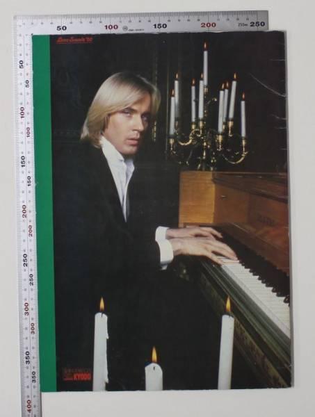 04J10 サイン色紙付 RICHARD CLAYDERMAN リチャード・クレイダーマン・オーケストラ 1980年来日ツアーパンフレット