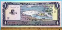 世界の紙幣【エルサルバドル共和国】1コロン 1982年 未使用 一円〜