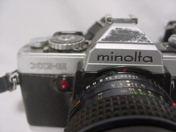 ●MINOLTA XG・E 一眼レフフィルムカメラ MC ROKKOR-PG F1:4 f=50mm ジャンク品 403●_画像2
