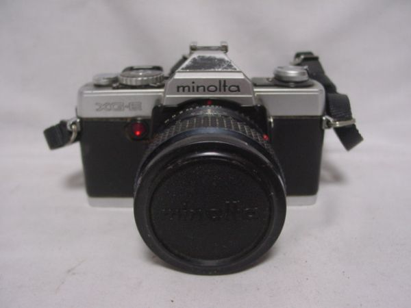 ●MINOLTA XG・E 一眼レフフィルムカメラ MC ROKKOR-PG F1:4 f=50mm ジャンク品 403●