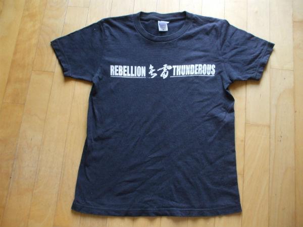 雷矢 REBELION THUNDEROUS Tシャツ 鐵槌 鉄槌 桜花 雷矢 イースタンユース Eastern youth Easternyouth Aggro Knuckle