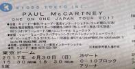 ポールマッカートニー 4/30最終日 アリーナ C10 1~2列 その2