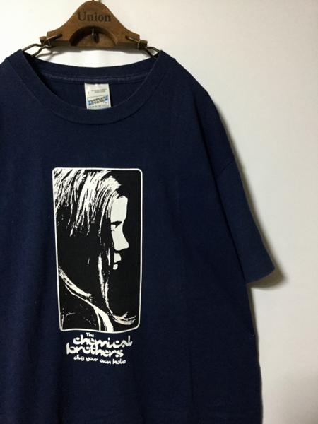 【稀少】90年代 The chemical brothers ケミカルブラザーズ EURO SCREEN STARS ヴィンテージ Tシャツ ( SCREEN STARS L ネイビー )