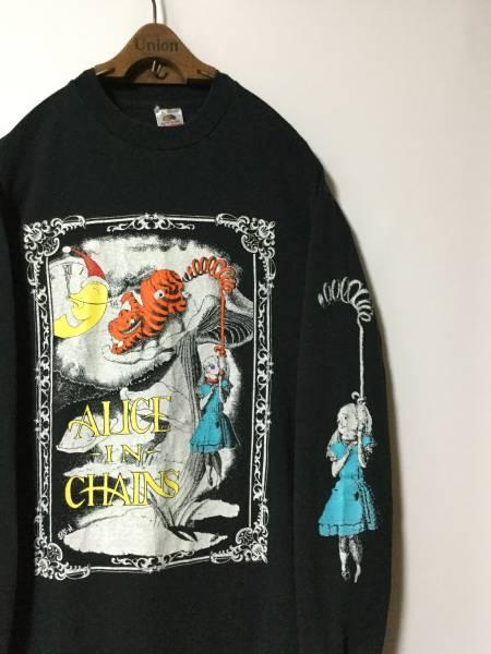 1992年 ALICE IN CHAINS アリスインチェインズ ヴィンテージ オフィシャル Tシャツ ( FRUIT OF THE ROOM / L ブラック ) ロック