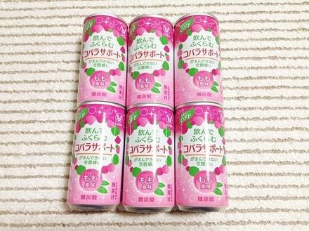 送料無料 ★ コバラサポート 6缶 もも風味_画像2