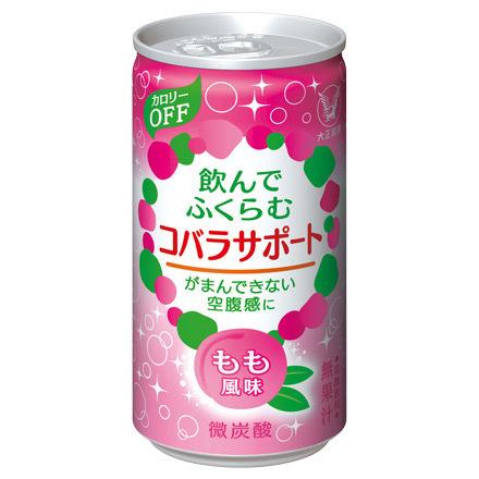 送料無料 ★ コバラサポート 6缶 もも風味_画像1