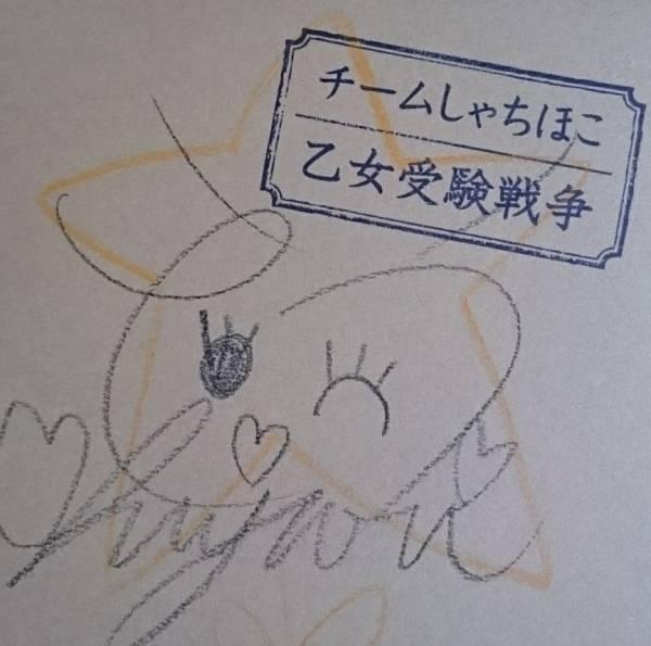 チームしゃちほこ 乙女受験戦争 伊藤千由李 落書きサイン ライブグッズの画像