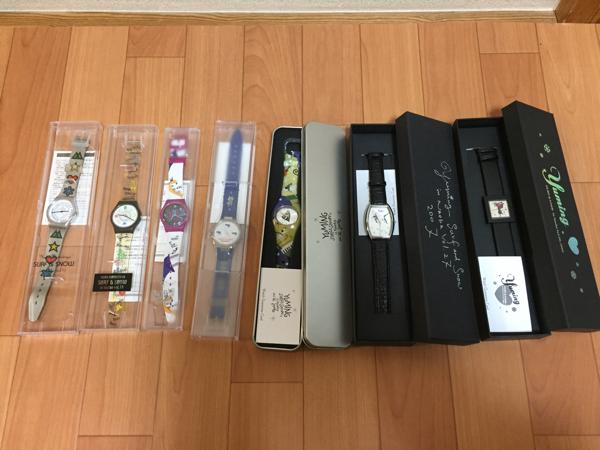 【美品】ユーミン 腕時計 7本セット 松任谷由実 yuming グッズ 限定 レア kt ライブグッズの画像