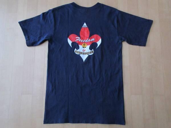 90's Dragon Ash 1999年 Freedom of Expression Tシャツ S ネイビー ドラゴンアッシュ KJ 降谷建志 馬場育三 桜井誠 TOURツアーLIVEライブ
