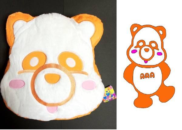 新品未使用 AAA え~パンダ フェイスクッション 橙 オレンジ色 西島隆弘 ライブグッズの画像