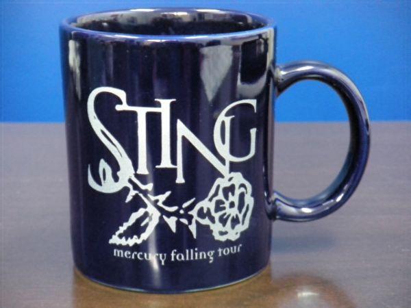 ★スティング/STING マグカップ/mercury falling tour/ミュージシャン/陶器/美品★