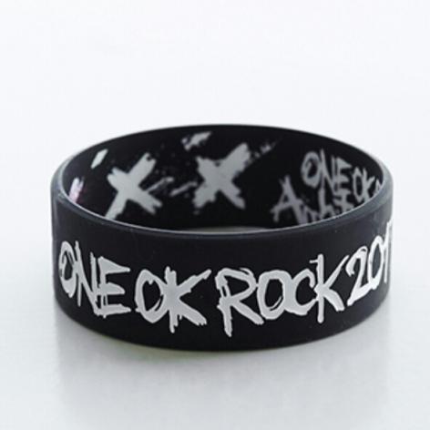 新品 黒色 ラバーバンド Ambitious Japan TOUR ONE OK ROCK グッズ ラババン