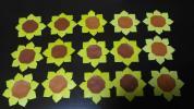 折り紙 ひまわり(16個)リース素材 パーツ 花 ハンドメイド 壁面飾り