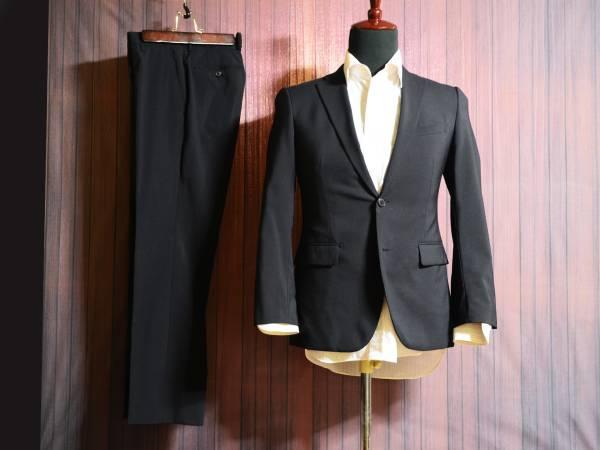ウォッシャブル 濃紺・ネイビー YA4(42)程度 スタイリッシュスリムスーツ